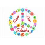Peace Love Nebraska Postcard