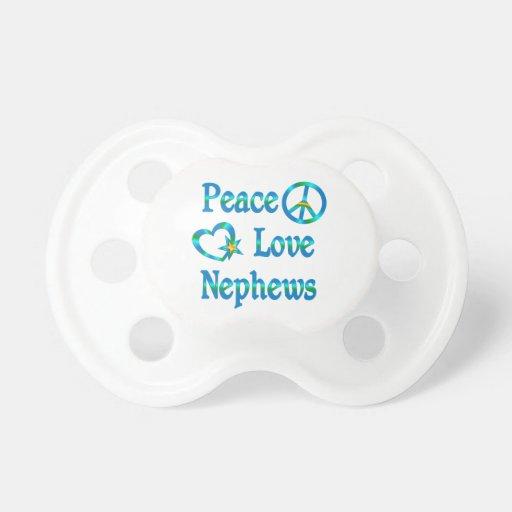 Peace Love Nephews Pacifier