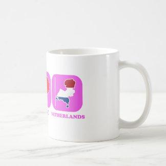 Peace Love Netherlands Coffee Mugs