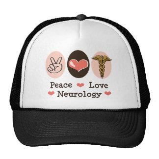 Peace Love Neurology Neurologist Hat