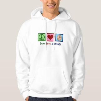 Peace Love Neurology - Neurologist Hoodie