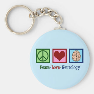 Peace Love Neurology - Neurologist Keychain