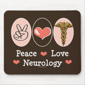 Peace Love Neurology Neurologist Mousepad