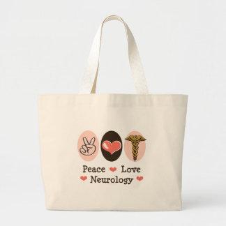 Peace Love Neurology Neurologist Tote Bag