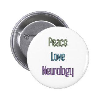 Peace, Love, Neurology Pin