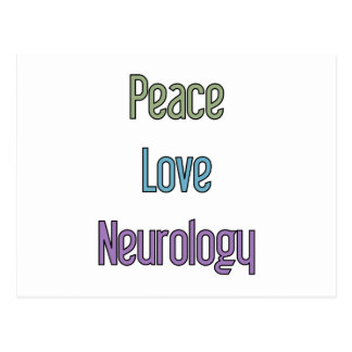 Peace, Love, Neurology Postcard