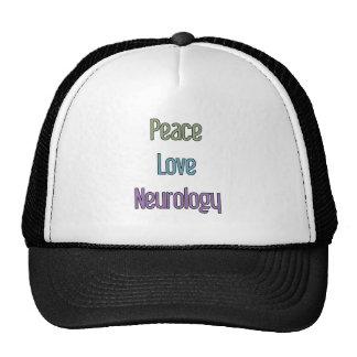 Peace, Love, Neurology Trucker Hat