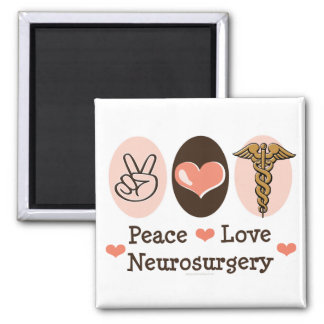 Peace Love Neurosurgery Magnet