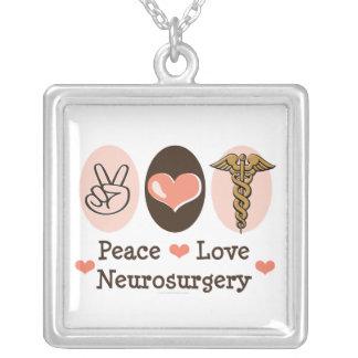 Peace Love Neurosurgery Necklace
