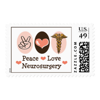 Peace Love Neurosurgery Postage Stamps