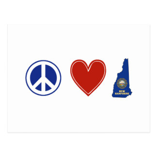 Peace Love New Hampshire Postcard