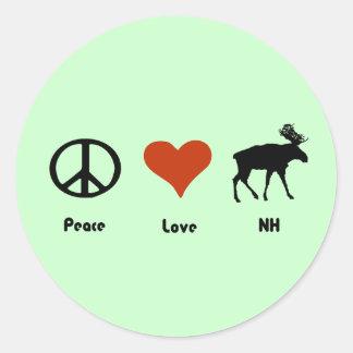 Peace Love New Hampshire Sticker