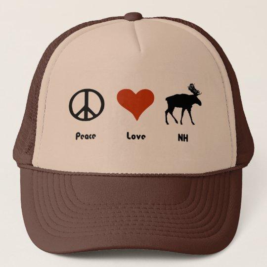 Peace Love New Hampshire Trucker Hat