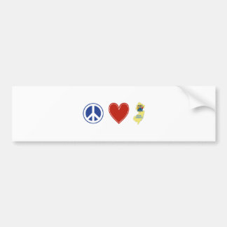 Peace Love New Jersey Bumper Stickers