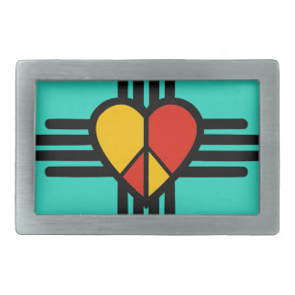 Peace Love New Mexico Belt Buckle