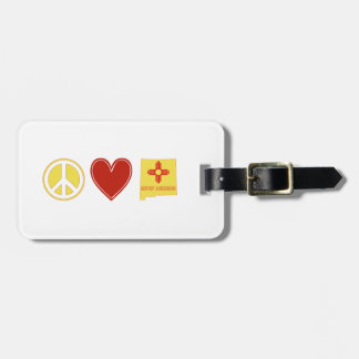 Peace Love New Mexico Luggage Tag