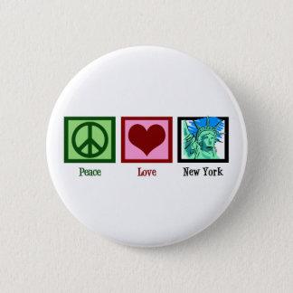 Peace Love New York Button