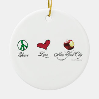 Peace Love New York City Ornament