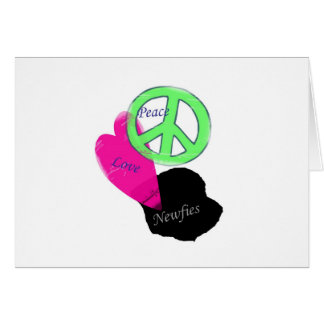 Peace Love & Newfies Card