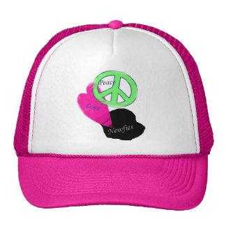 Peace Love & Newfies Trucker Hat