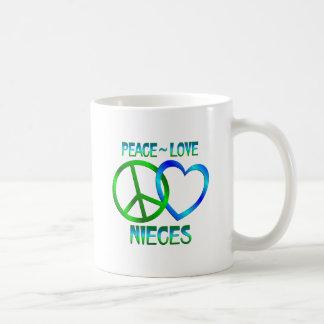 Peace Love Nieces Classic White Coffee Mug