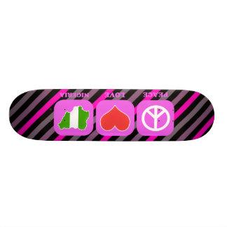 Peace Love Nigeria Skate Board Deck