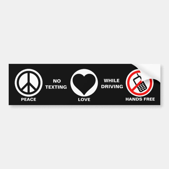 Bumper Stickers For Texting And Driving