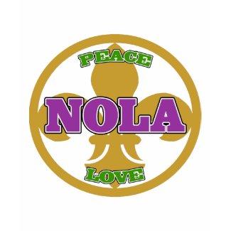 Peace Love NOLa Fleur De Lis shirt