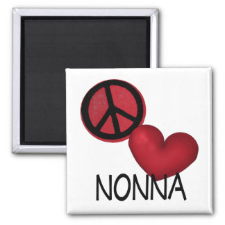 Peace Love Nonna Magnet