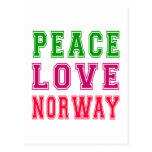 Peace Love Norway. Postcard
