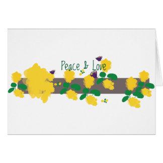 """Peace & Love"" Notecard"