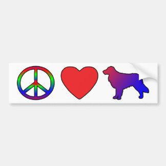 Peace Love Nova Scotia Duck Tolling Retrievers Bumper Sticker