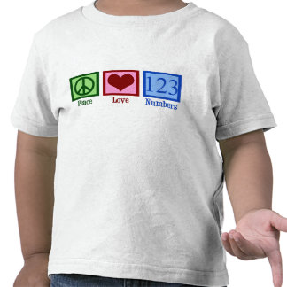 Peace Love Numbers T-shirts