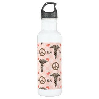 Peace Love Nurse Caduceus RN BPA Free Stainless Steel Water Bottle