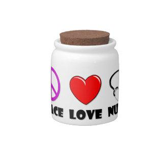 Peace Love Nurse Candy Dish