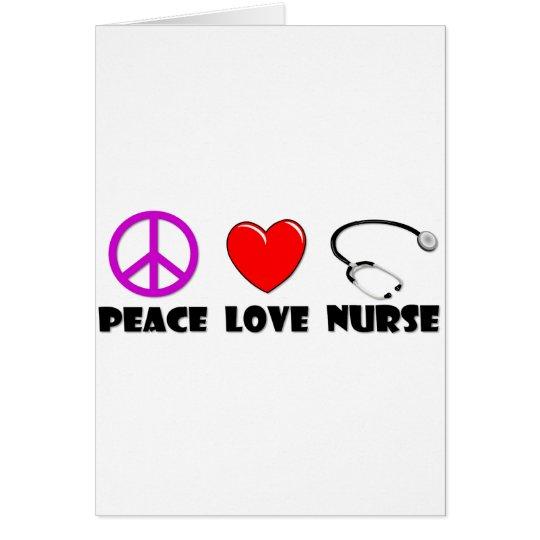 Peace Love Nurse Card