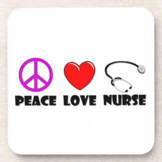 Peace Love Nurse Coaster