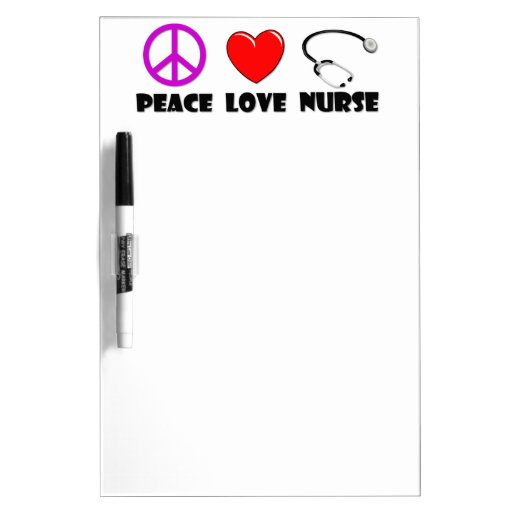 Peace Love Nurse Dry Erase Boards