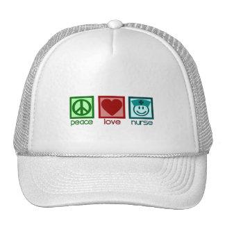 Peace Love Nurse Hats