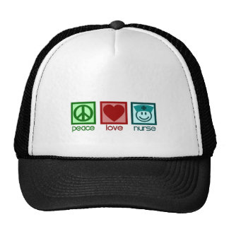 Peace Love Nurse Mesh Hats