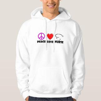 Peace Love Nurse Hooded Sweatshirt