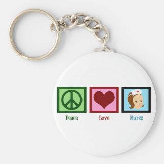 Peace Love Nurse Keychain