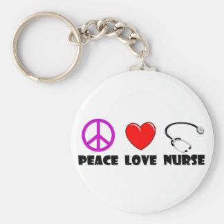 Peace Love Nurse Key Chains
