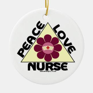 Peace Love Nurse Christmas Ornaments