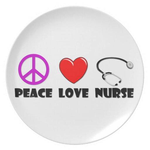 Peace Love Nurse Plate