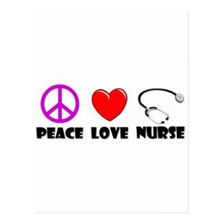 Peace Love Nurse Post Cards