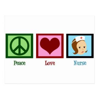 Peace Love Nurse Postcard