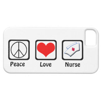 Peace, Love, Nurse-Symbols iPhone SE/5/5s Case