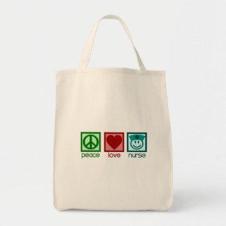 Peace Love Nurse Tote Bag