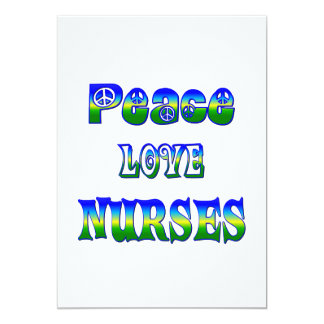 Peace Love Nurses Card